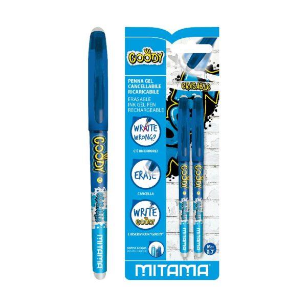 Penna Cancellabile Blu Goody Mitama pz.2