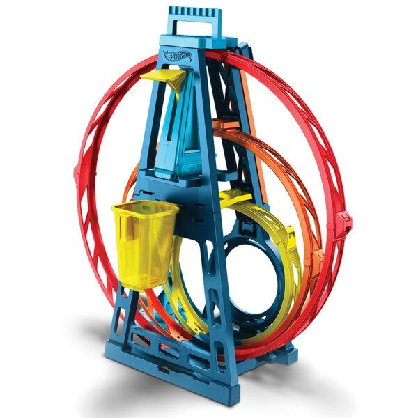 Hot Wheels   Hot Wheels- Track Builder, Playset Pista Triple Loop con Veicolo Incluso