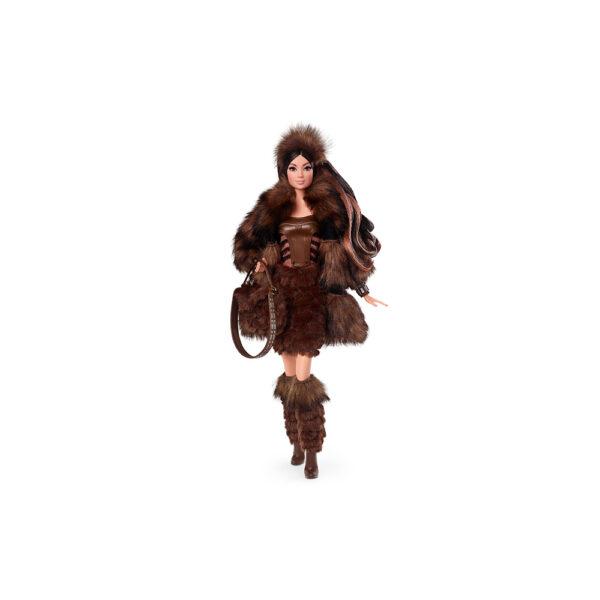 Barbi- Star Wars Bambola da 30,5 cm Chewbecca, da Collezione, con Accessori, Piedistallo e Certificato di Autenticità Barbie