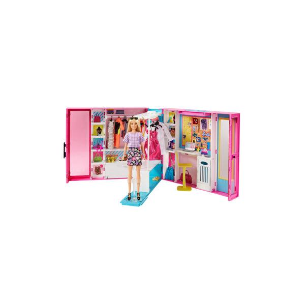 Barbie- L'armadio dei sogni con Bambola Bionda e più di 25 Pezzi Barbie