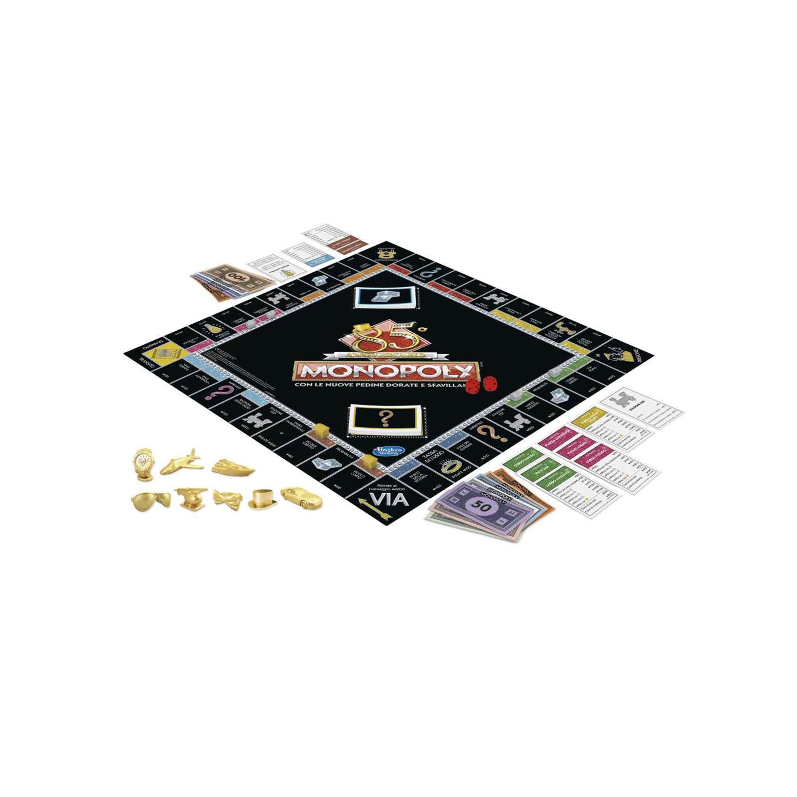 Monopoly - 85° anniversario (gioco in scatola hasbro gaming, versione in italiano). -