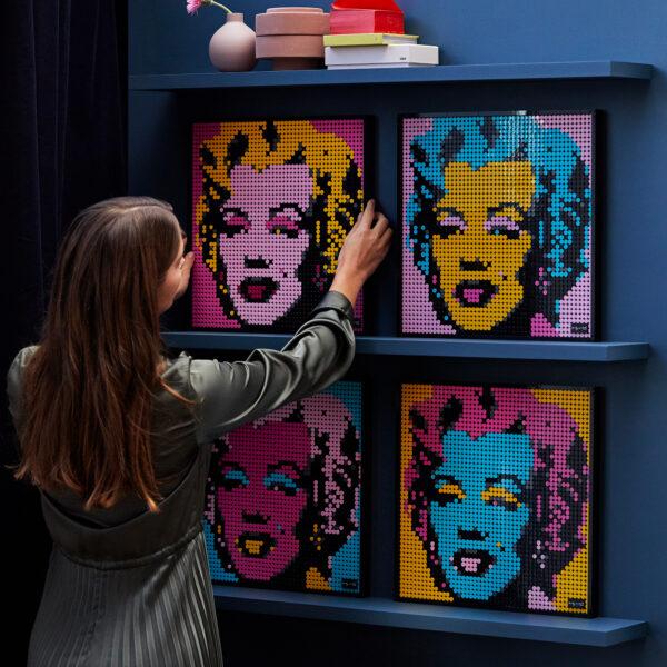 LEGO ART Andy Warhol's Marilyn Monroe - 31197    ART