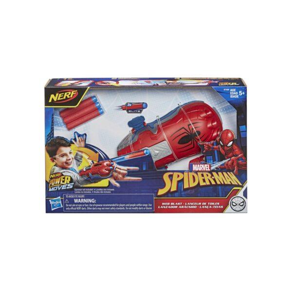 Spider-Man - Web Blast Power Moves (Blaster lancia-dardi lancia-rete NERF per gioco di ruolo)