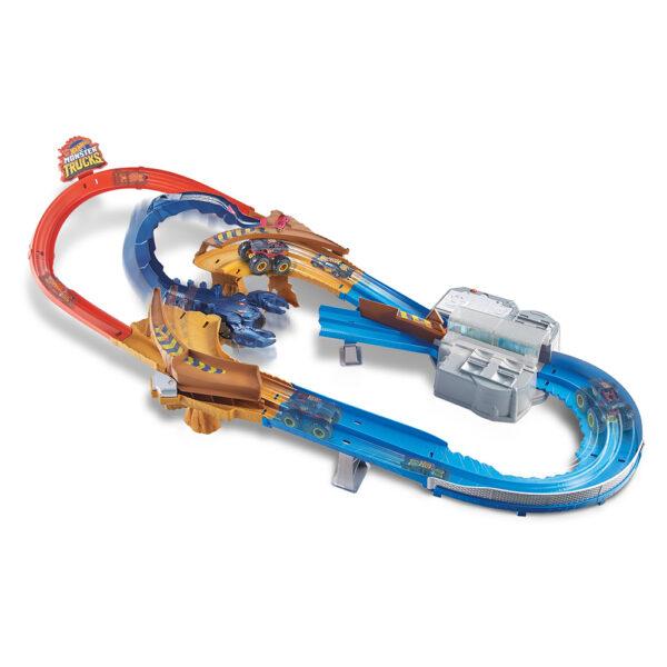 Hot Wheels- Set Pista Ultraveloce dello Scorpione, con Monster Truck, Macchinina e Scorpione Gigante    Hot Wheels
