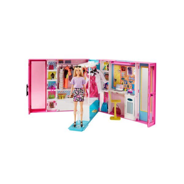Barbie Armadio dei Sogni, Include una Bambola con 4 Look Diversi e più di 25 Accessori Barbie