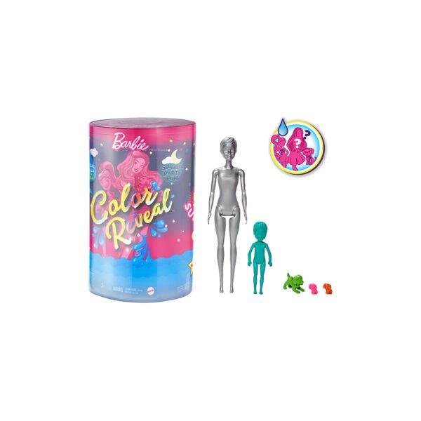 Barbie- Color Reveal con oltre 50 Sorprese, Inclusi 2 Bambole, 3 Animaletti e 36 Accessori a Tema Pigiama Party    Barbie