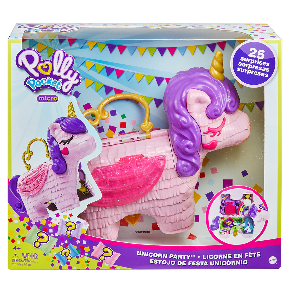 Polly pocket- unicorno magiche sorprese playset con micro bambole polly e lila, accessori - Polly Pocket
