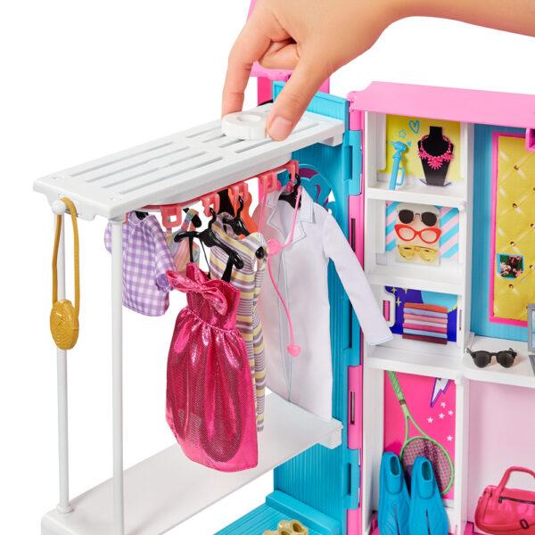 Barbie  Barbie- L'armadio dei sogni con Bambola Bionda e più di 25 Pezzi