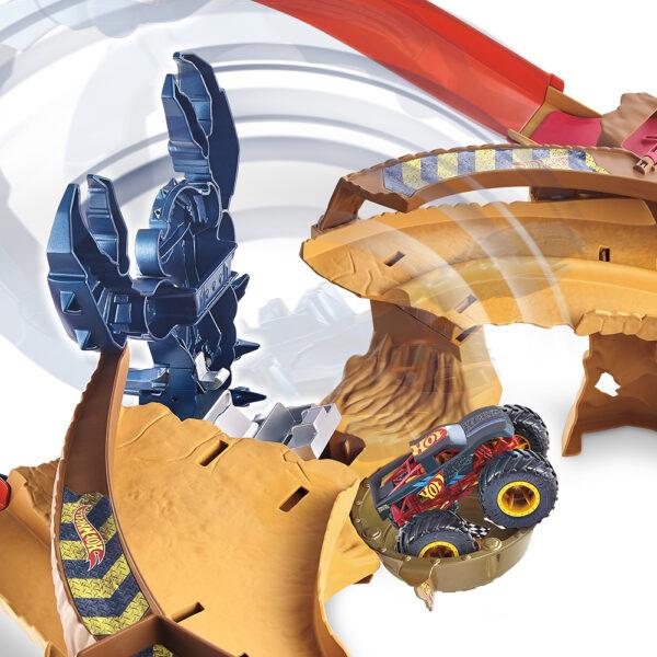 Hot Wheels  Hot Wheels- Set Pista Ultraveloce dello Scorpione, con Monster Truck, Macchinina e Scorpione Gigante