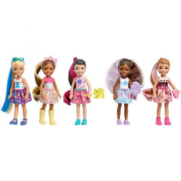 Mattel Barbie- Color Reveal Bambola Chelsea Assortimento a Sorpresa, Vestito e Acconciatura    Barbie