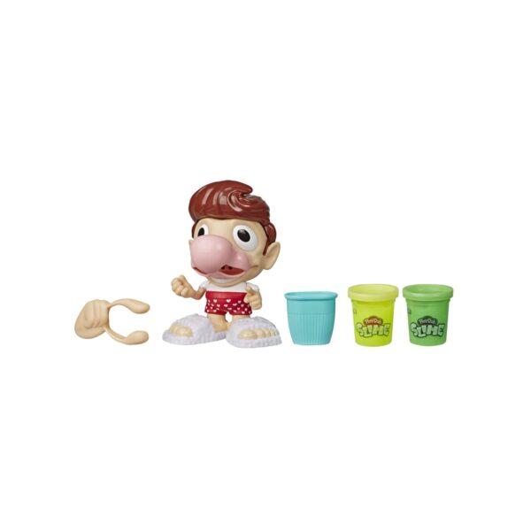 Play-Doh - Scotty Raffreddato (Playset con 2 vasetti di pasta da modellare Slime e accessori).