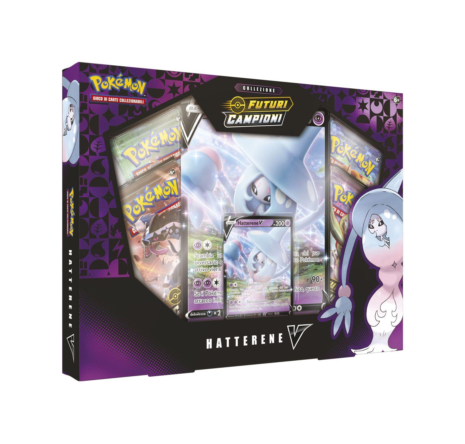 Pokemon spada e scudo 3.5 futuri campioni collezione hatterene-v -