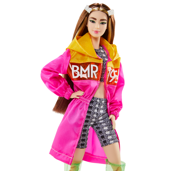 Barbie  Barbie-BMR1959 Bambola Mora Snodata con Trench