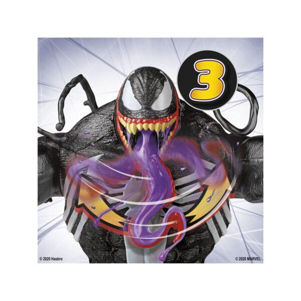 Spider-Man - Venom Ooze (Action figure 31,5 cm con azione di lancio di melma, include un barattolo di melma)