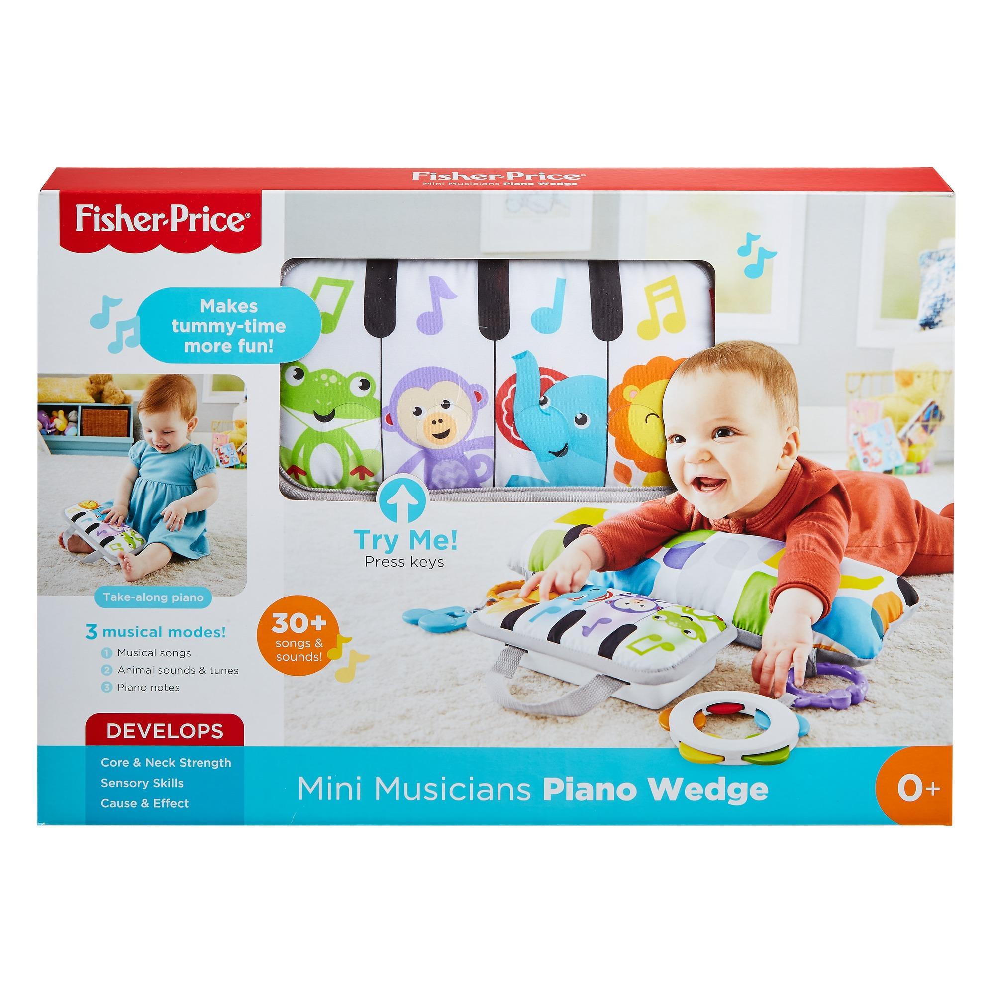  fisher-price soffice pianoforte dei piccoli musicisti, cuscino con canzoni, 0+ mesi - FISHER-PRICE