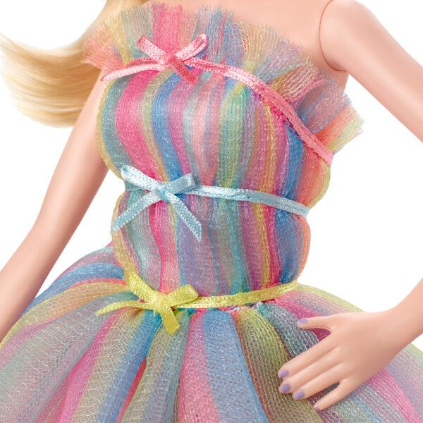 Barbie- Birthday Wishes Bambola da Collezione Bionda con Vestito Arcobaleno    Barbie