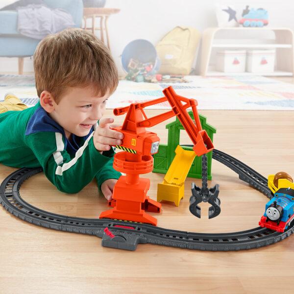 Il Trenino Thomas- Trackmaster Playset Pista Cantiere della Gru    THOMAS & FRIENDS