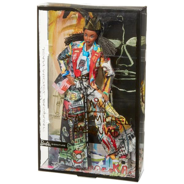 Barbie- Collector Jean-Michel Basquiat Bambola con Trecce e Corona,Piedistallo e Certificato di Autenticità Barbie