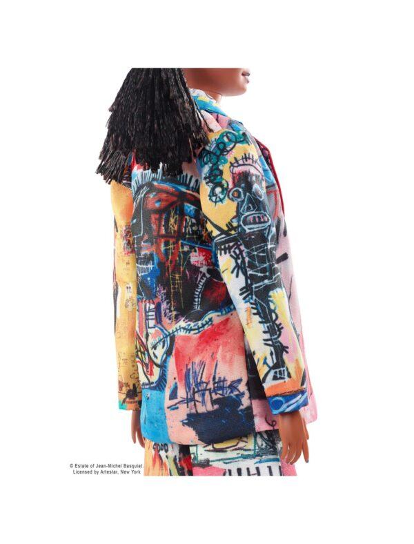 Barbie   Barbie- Collector Jean-Michel Basquiat Bambola con Trecce e Corona,Piedistallo e Certificato di Autenticità