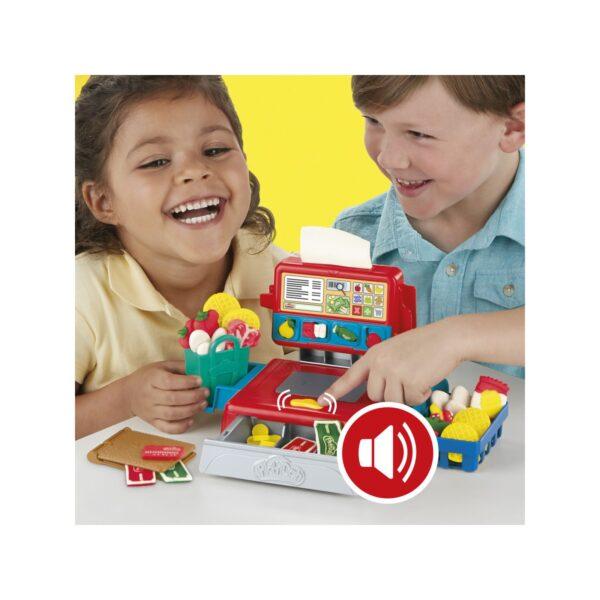 Play-Doh - Il registratore di cassa (Playset con suoni divertenti, accessori e 4 colori di pasta da modellare Play-Doh)