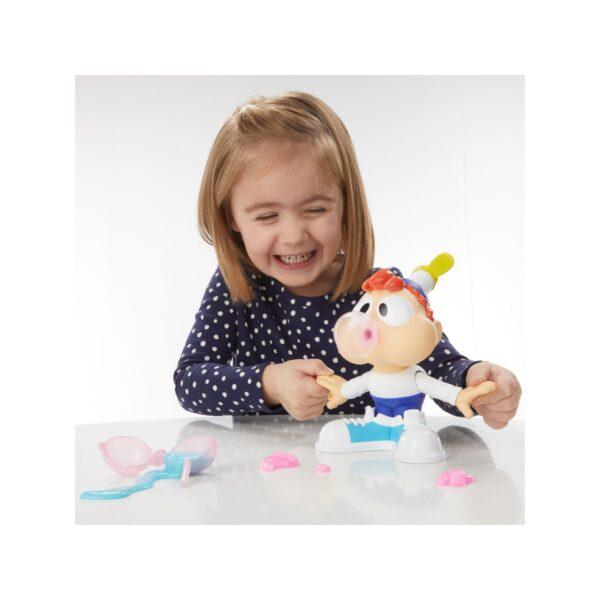 Play-Doh - Charlie Masticone (Playset con 2 vasetti rosa e blu di composto Play-Doh Slime)