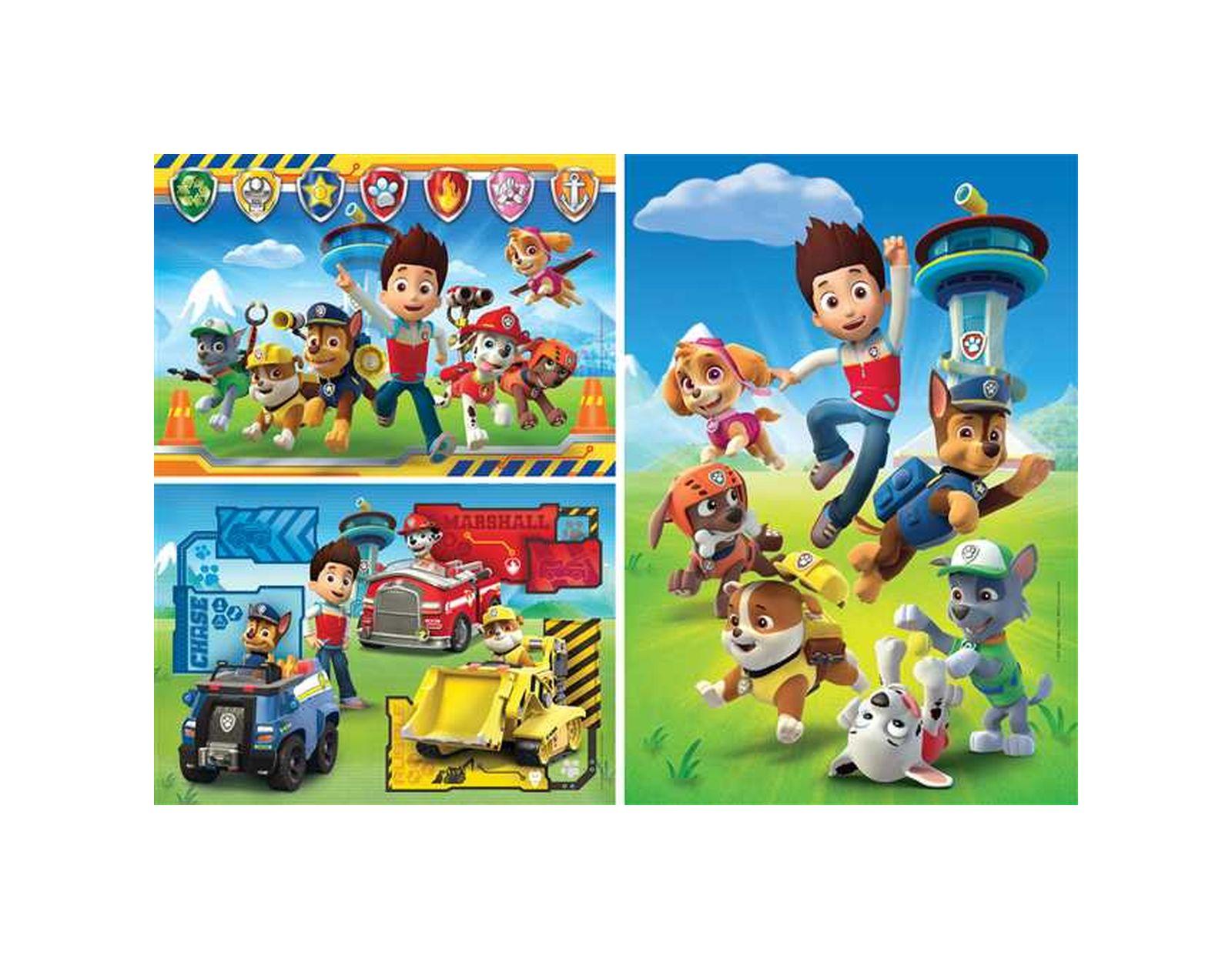 Clementoni - 25209 - supercolor puzzle - paw patrol - 3x48 pezzi -