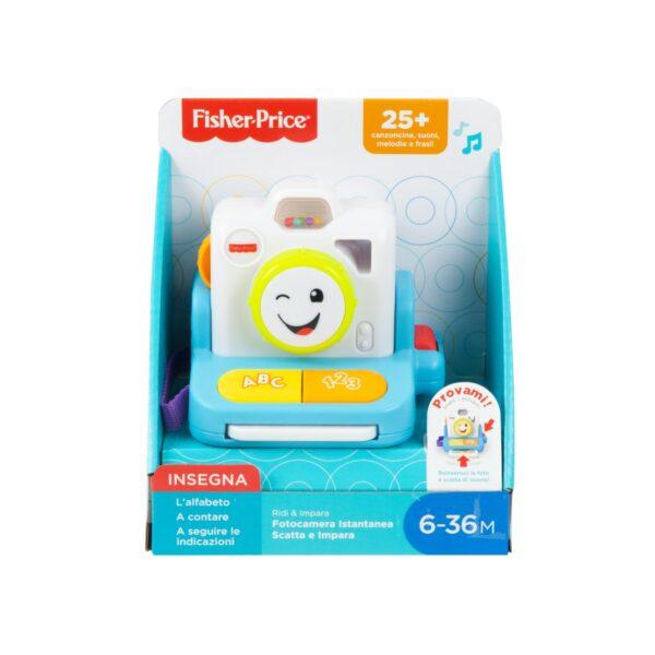 Fisher-Price Ridi e Impara Fotocamera Istantanea Scatta e Impara, Giocattolo per Bambini 6+ Mesi    FISHER-PRICE