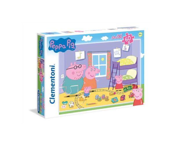 Clementoni - 26438 - Supercolor puzzle - Peppa Pig - 60 maxi pezzi