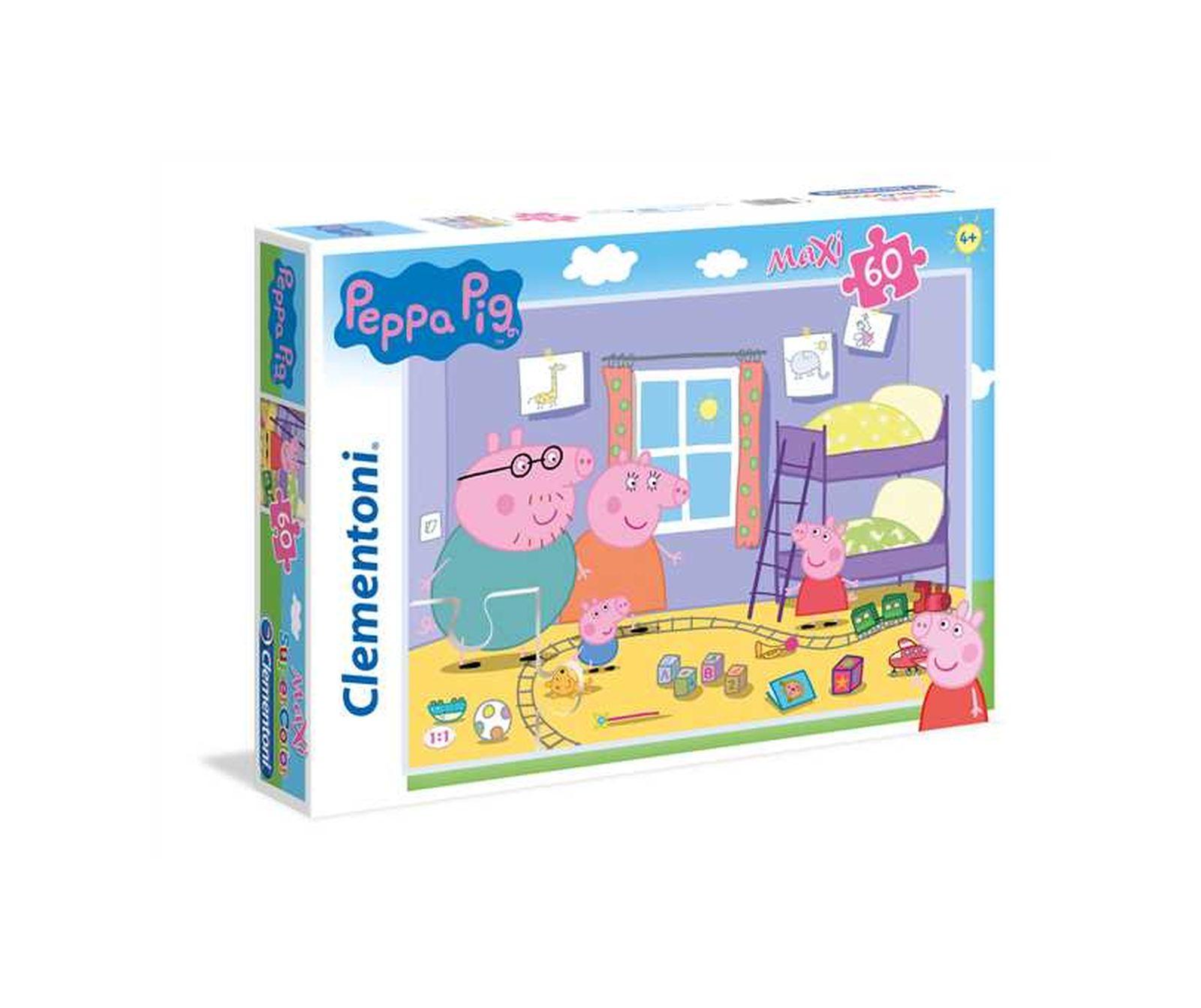 Clementoni - 26438 - supercolor puzzle - peppa pig - 60 maxi pezzi -