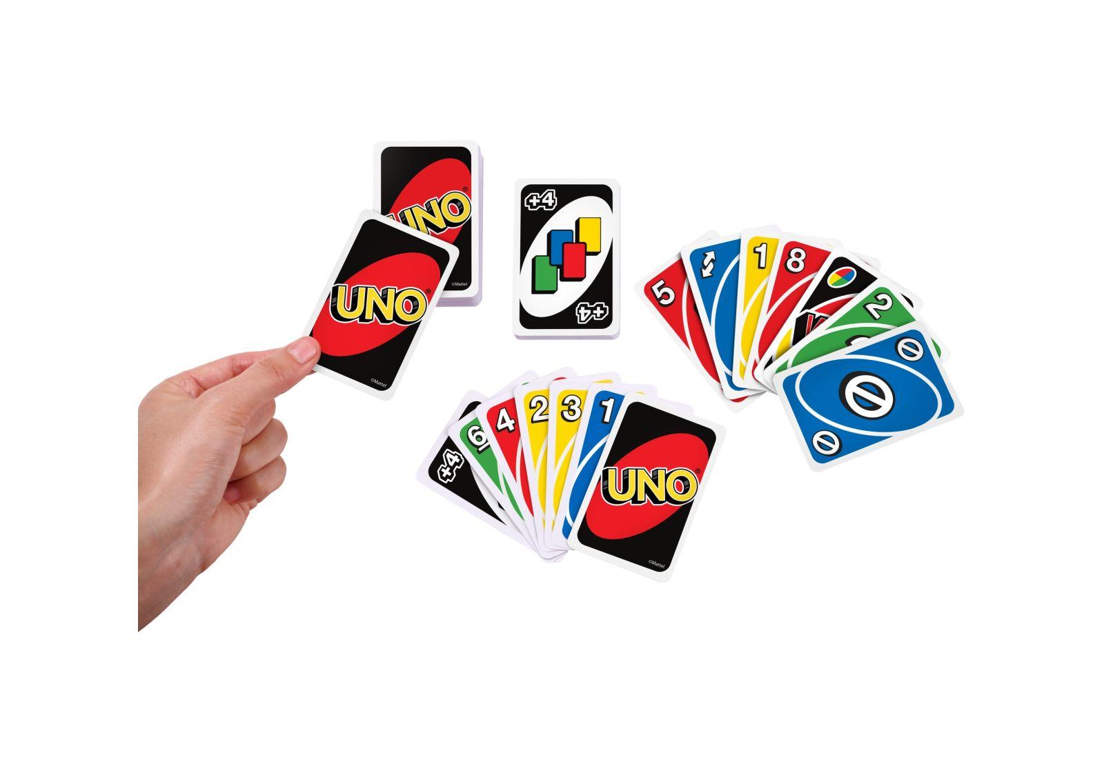 1 Pacco del Famoso Gioco di Carte UNO Originali Marca Mattel Nuove Idea Regalo