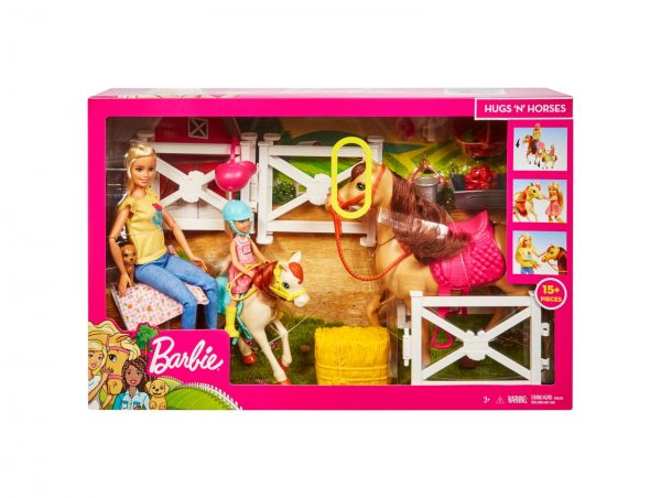 Barbie - Ranch di Barbie e Chelsea, Playset Giocattolo con Due Bambole, Cavalli e Accessori