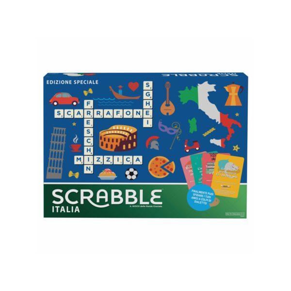 Mattel Games Scrabble Italia - Edizione Speciale, Gioco di Parole Crociate Divertente Anche in Dialetto, per Tutta Famiglia