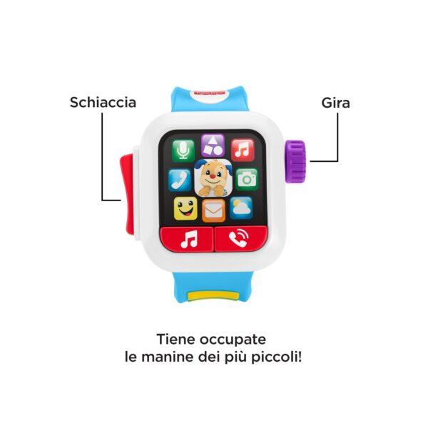 Fisher-Price Smartwatch Ridi e Impara, Giocattolo Istruttivo per Bambini 6+ Mesi    FISHER-PRICE