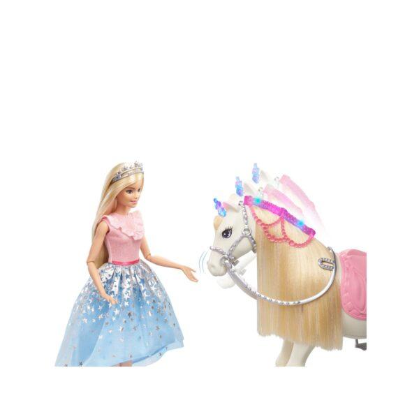 Barbie   Barbie Princess Adventure, Cavallo e Bambola Barbie Principessa, Giocattolo Interattivo con Canzoni, Luci, Suoni e Movimenti Realistici