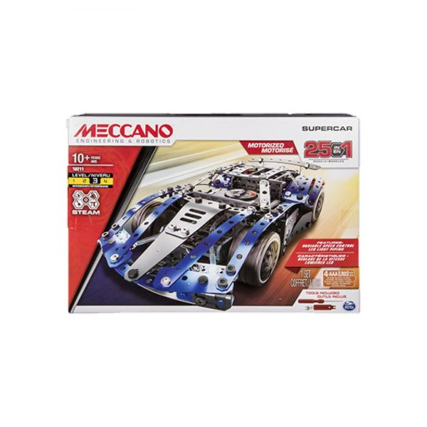 MECCANO MULTIMODELLO DA 25 - SUPER CAR Meccano Logo
