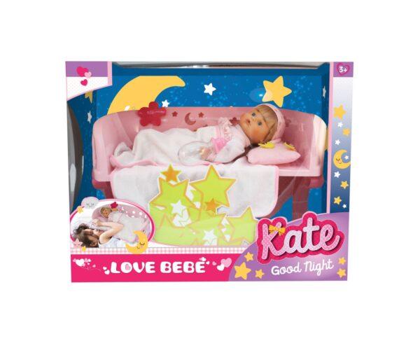 KATE GOODNIGHT - BAMBOLA CON LETTINO LOVE BEBÈ