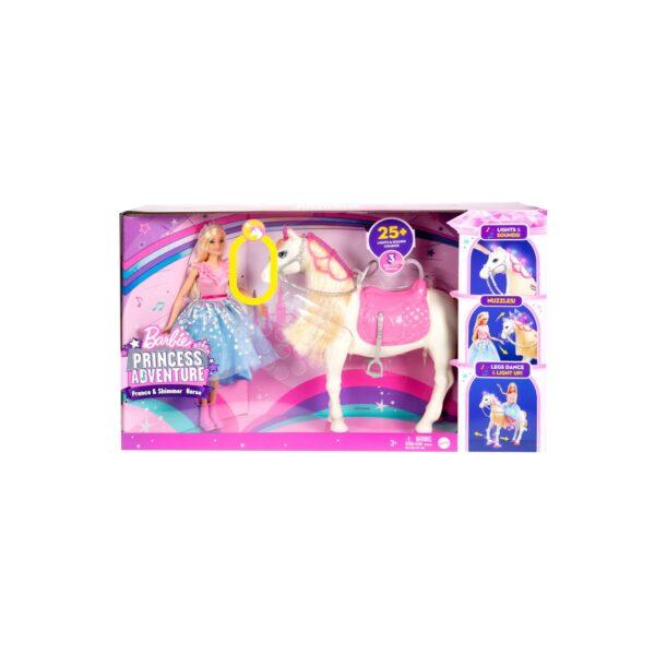 Barbie Princess Adventure, Cavallo e Bambola Barbie Principessa, Giocattolo Interattivo con Canzoni, Luci, Suoni e Movimenti Realistici    Barbie