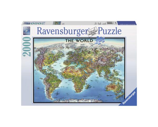 RAVENSBURGER PUZZLE 2000 PEZZI WORLD MAP - MAPPA DEL MONDO Ravensburger1