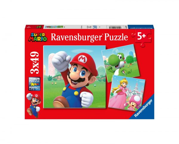 RAVENSBURGER - PUZZLE 3X49 PEZZI - SUPER MARIO Ravensburger1