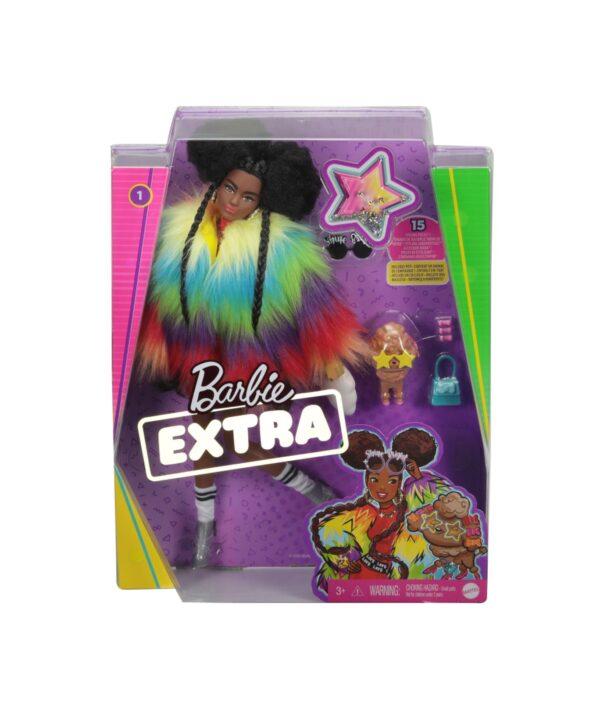 Barbie   BARBIE EXTRA BAMBOLA AFRO CON 10 ACCESSORI ALLA MODA, GIOCATTOLO PER BAMBINI 3+ ANNI