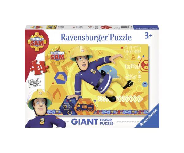 RAVENSBURGER PUZZLE 24 PEZZI GIANT SAM IL POMPIERE Ravensburger1