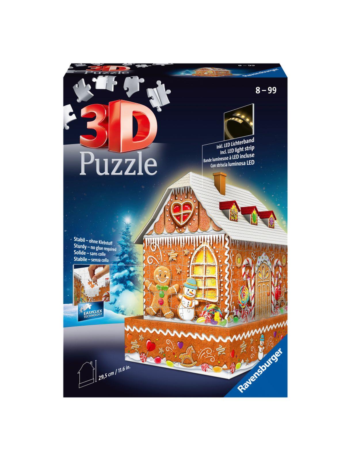 Ravensburger 3d puzzle night edition casetta di marzapane - Ravensburger1