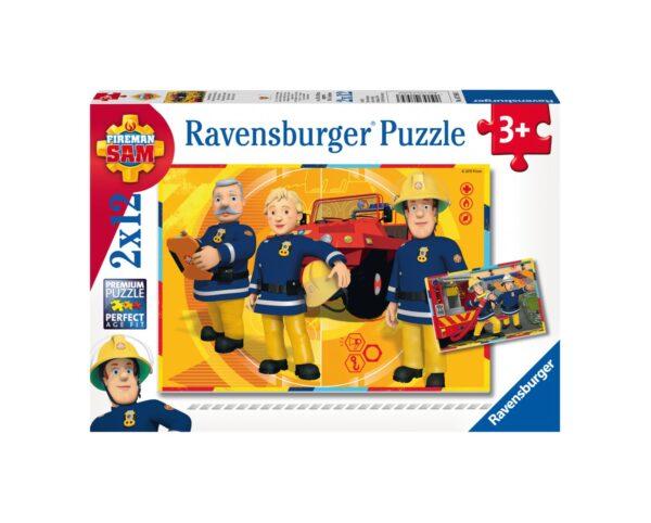 RAVENSBURGER - PUZZLE 2X12 PEZZI - SAM IL POMPIERE Ravensburger1