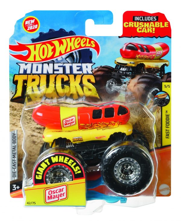 Hot Wheels Hot Wheels – Monster Truck Macchinina in Scala 1:64, Veicolo Assortito, 4+Anni