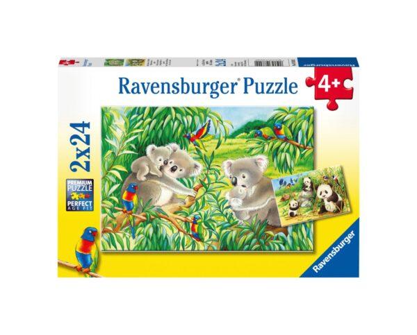 RAVENSBURGER - PUZZLE 2X24 PEZZI - DOLCI KOALA E PANDA Ravensburger1