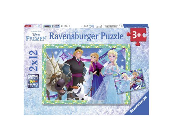 RAVENSBURGER - PUZZLE 2X12 PEZZI - FROZEN Ravensburger1