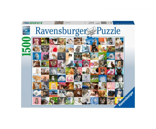 RAVENSBURGER PUZZLE 1500 PEZZI 99 GATTI Ravensburger1
