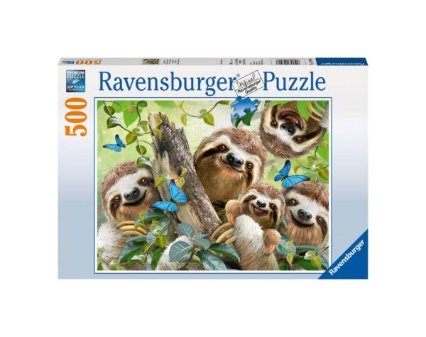 RAVENSBURGER - PUZZLE 500 PEZZI - SELFIE TRA BRADIPI Ravensburger1