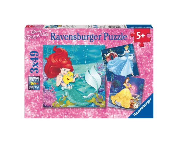 RAVENSBURGER - PUZZLE 3X49 PEZZI - PRINCIPESSE DISNEY B Ravensburger1