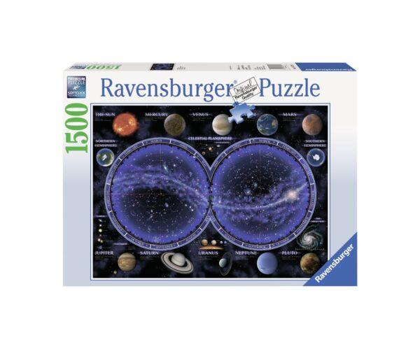 RAVENSBURGER PUZZLE 1500 PEZZI PLANISFERO CELESTE Ravensburger1